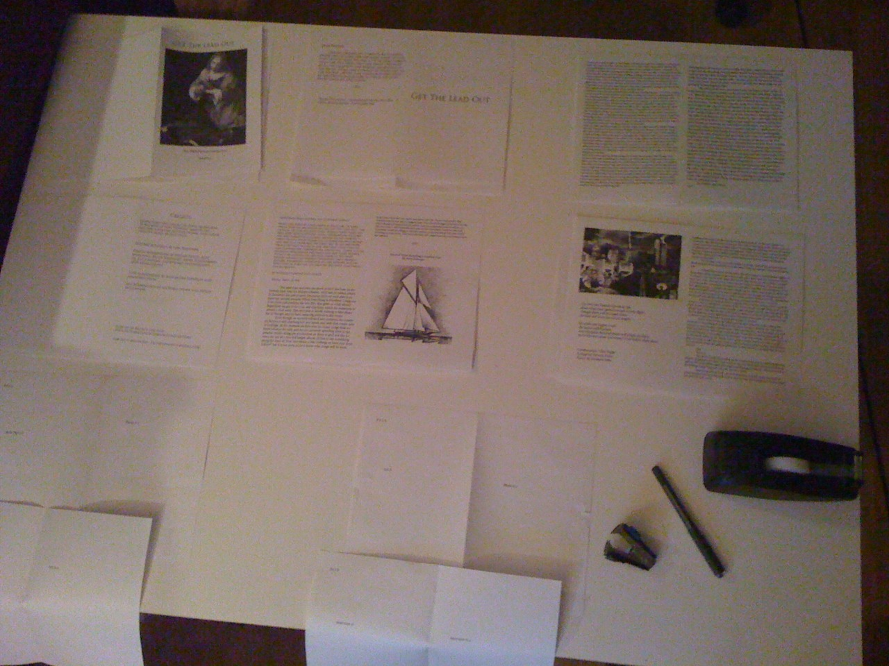 Finalizing the Zine format. Be sure to sign up for the first issue before it gets mailed out. www.pictureatlantic.com/mailing-listzine/