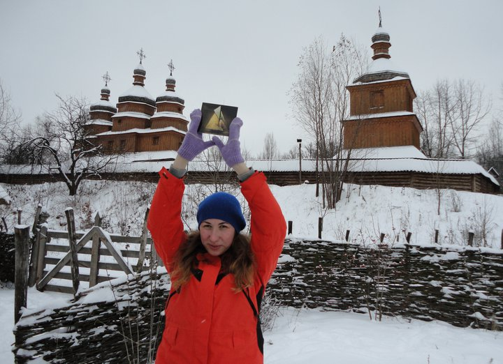 I wanted to share something with you all that brightened my Christmas season. The picture above is of Svitlana Sayuk holding our newest CD in the pale cold of the Ukranian Winter. In the back you can see a very old, but very majestic looking Russian Orthodox Chapel. She lives in Kiev, and shared the photo with us via our Facebook. A big thank you to Svitlana for repping us. Much love from PA! If you want to rep your hometown/Home Country , take a picture with your PA CD, Amelie Gnome-style at a location of your choosing, and mail it in to Pictureatlantic@gmail.com to share with the rest of the planet. Merry Christmas