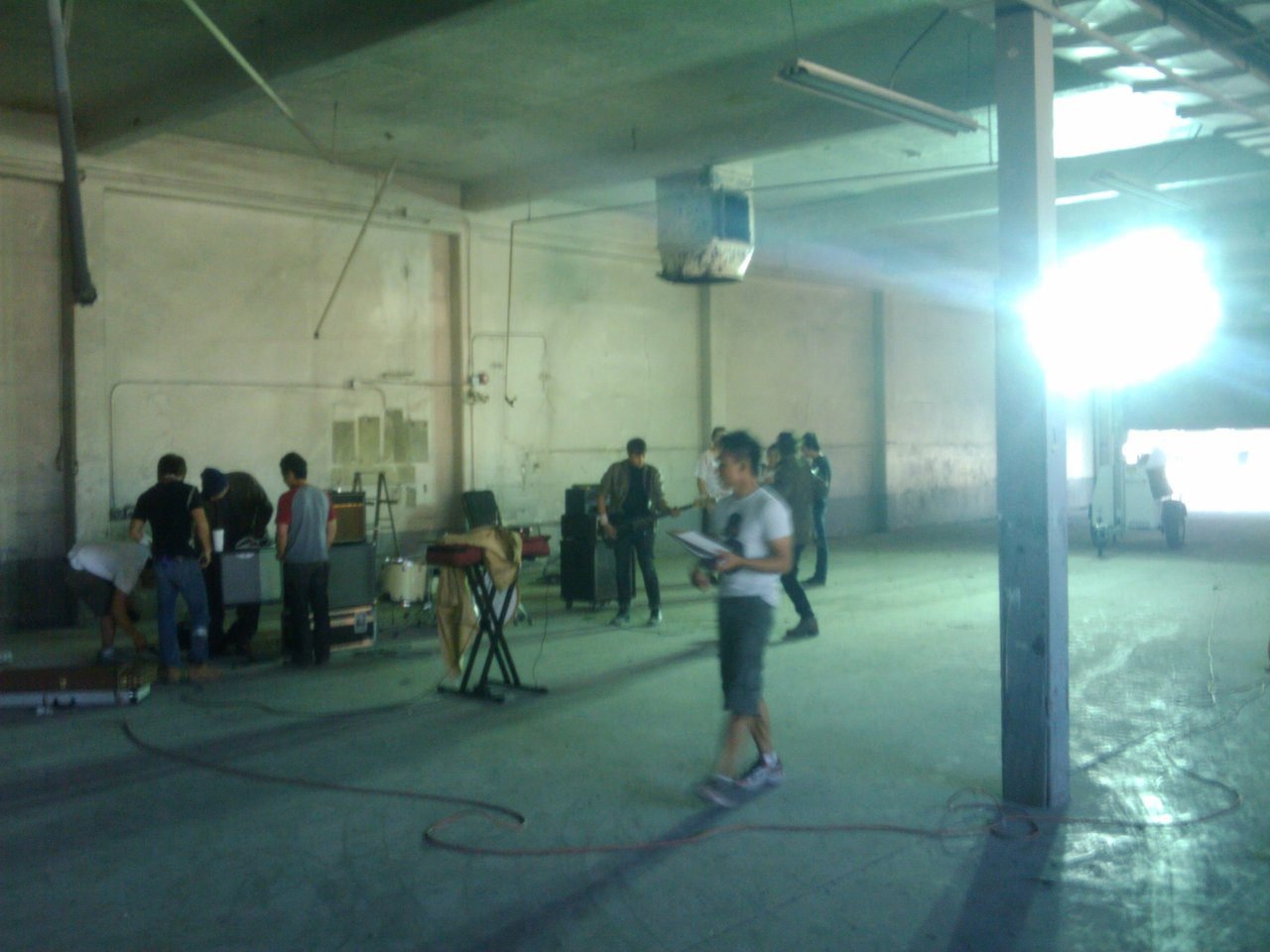 aboysthoughts :     Shooting a music video. No big deal…