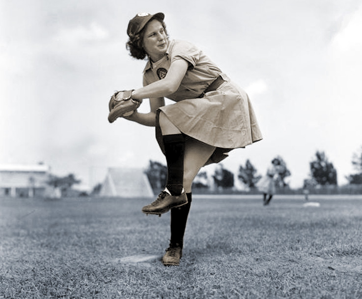 Betty's wind-up was good form for pitching, not so good for punching
