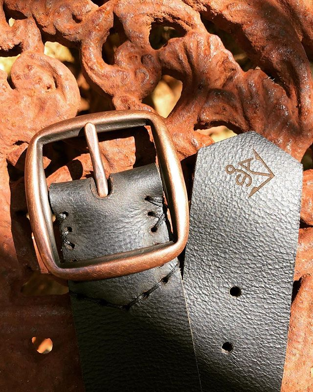 Copper & Black for a customer in #rotorua #newzealand #handmade #leather #belt #design #leathergoods #studio