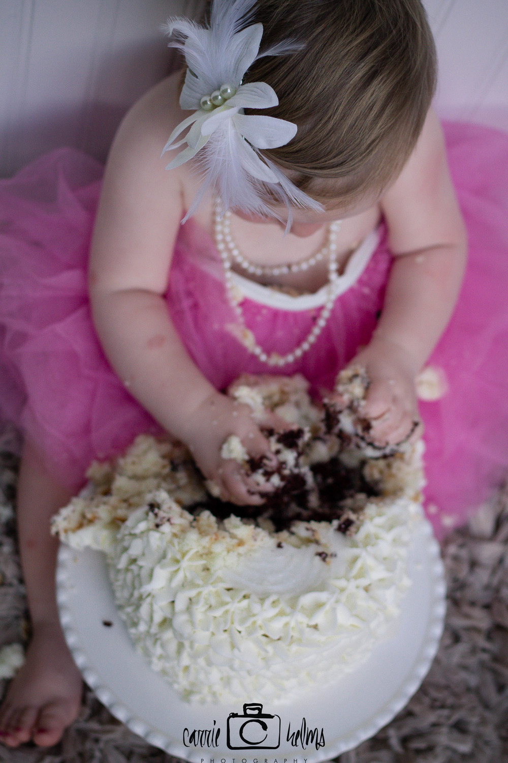 Greensboro North Carolina Cake Smash First Birthday Childrens Photographer