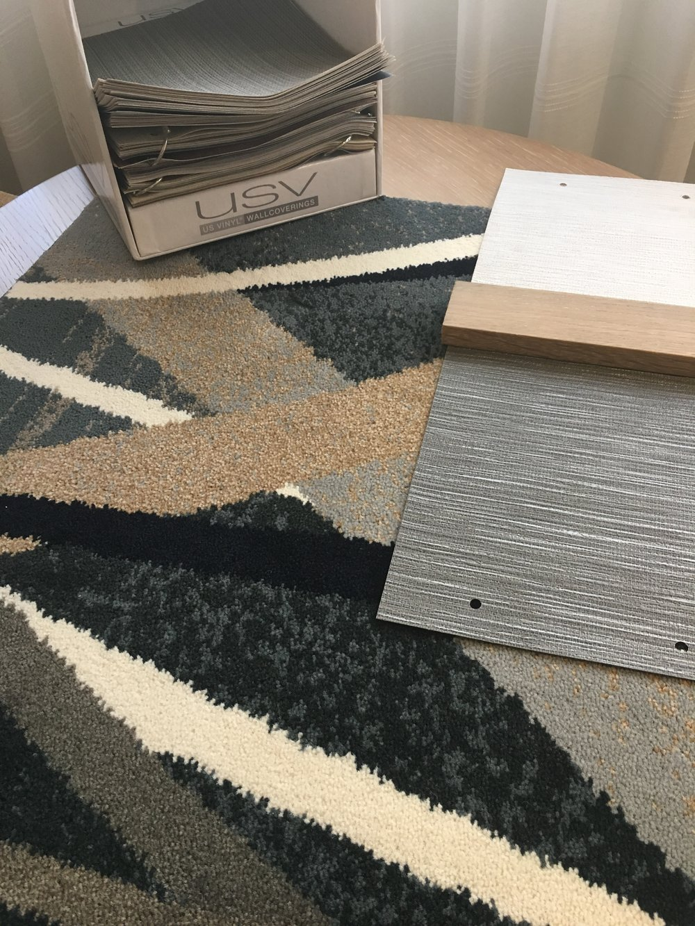 this design uses USVinyl wall coverings and Lexmark Hospitality carpet