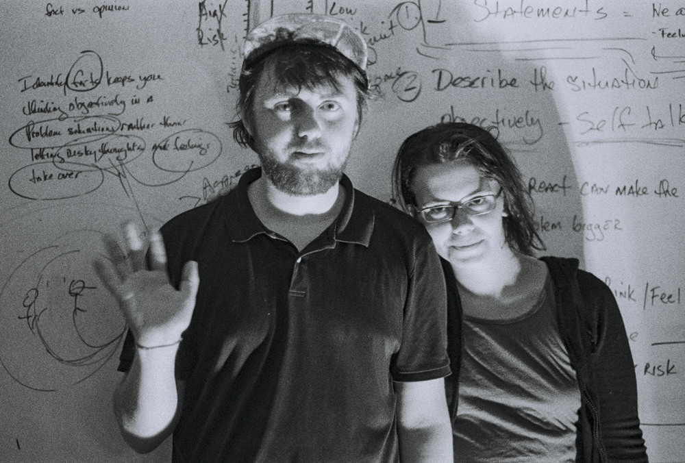 Mat Cothran and Delaney Mills of Elvis Depressedly.