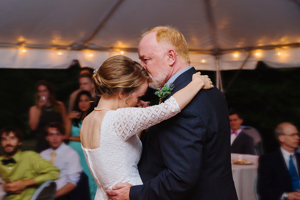 father daughter dance in tent reception at montpelier mansion