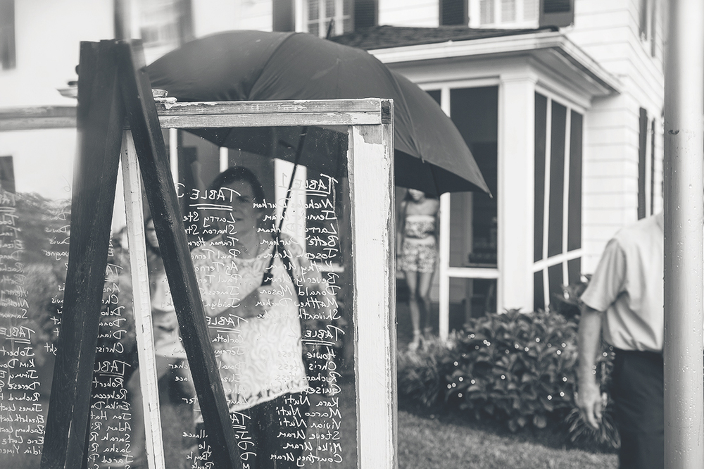 maryland wedding DIY seating chart on a vintage window