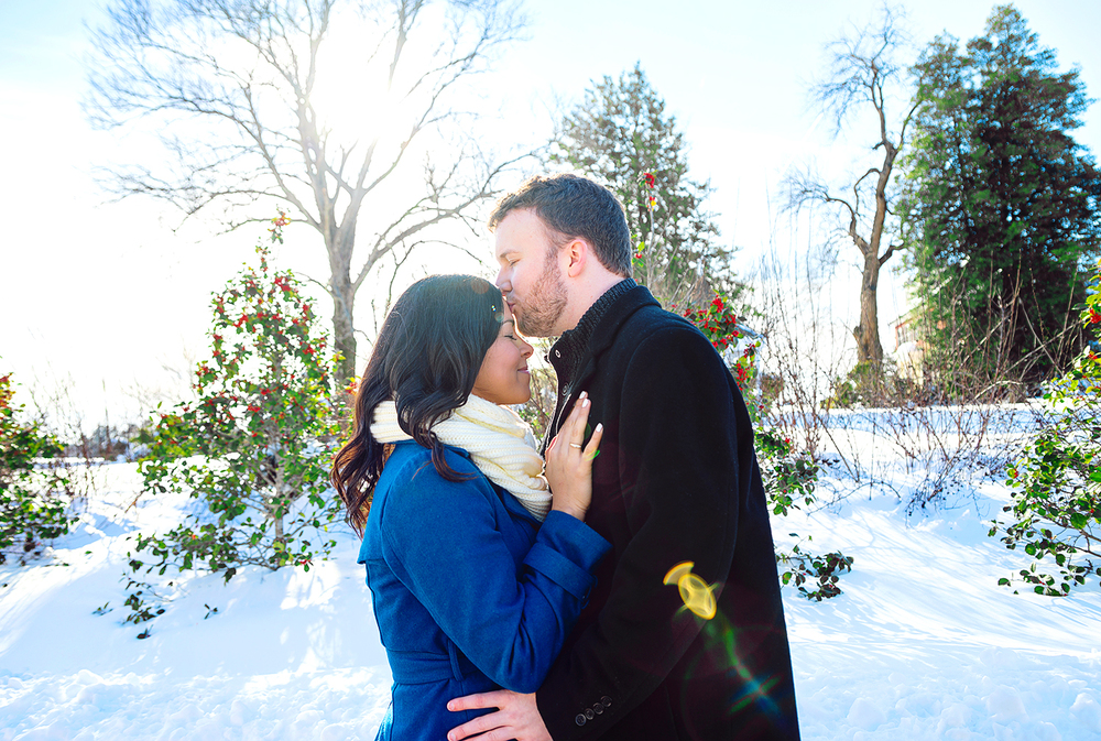 Woodlawn Manor winter engagement photos