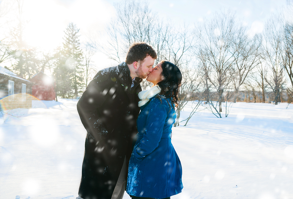 Washington DC snow engagement session photos