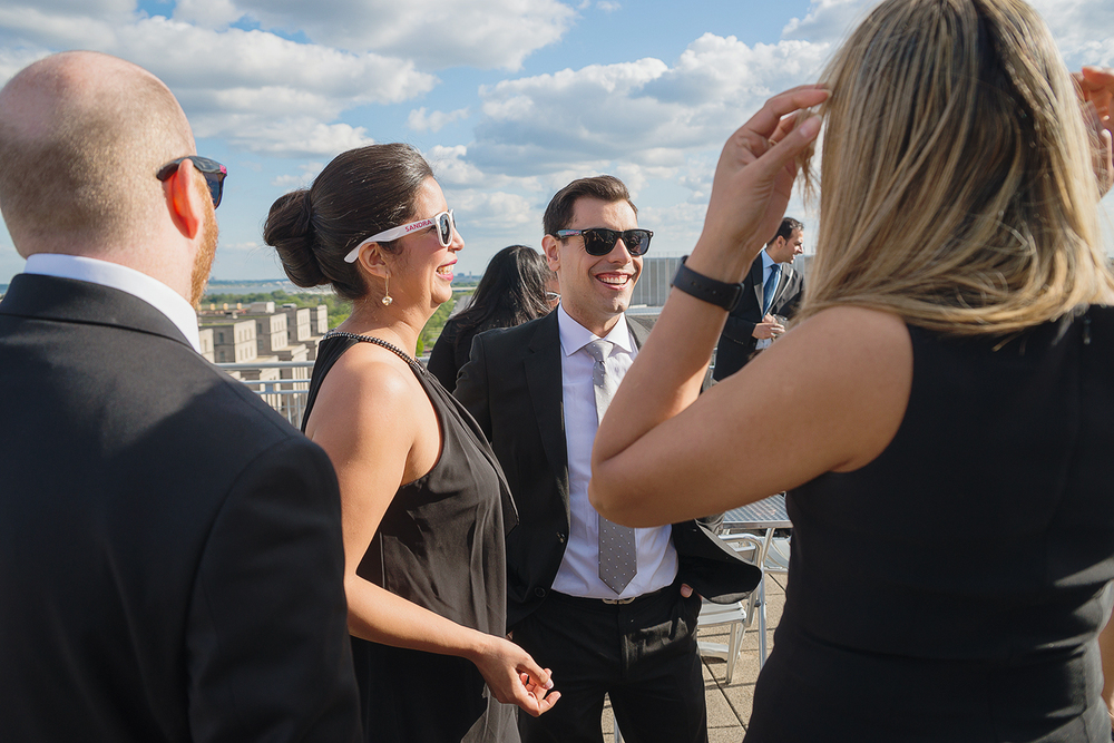 Amazing DC venue with rooftop views and sunset reception