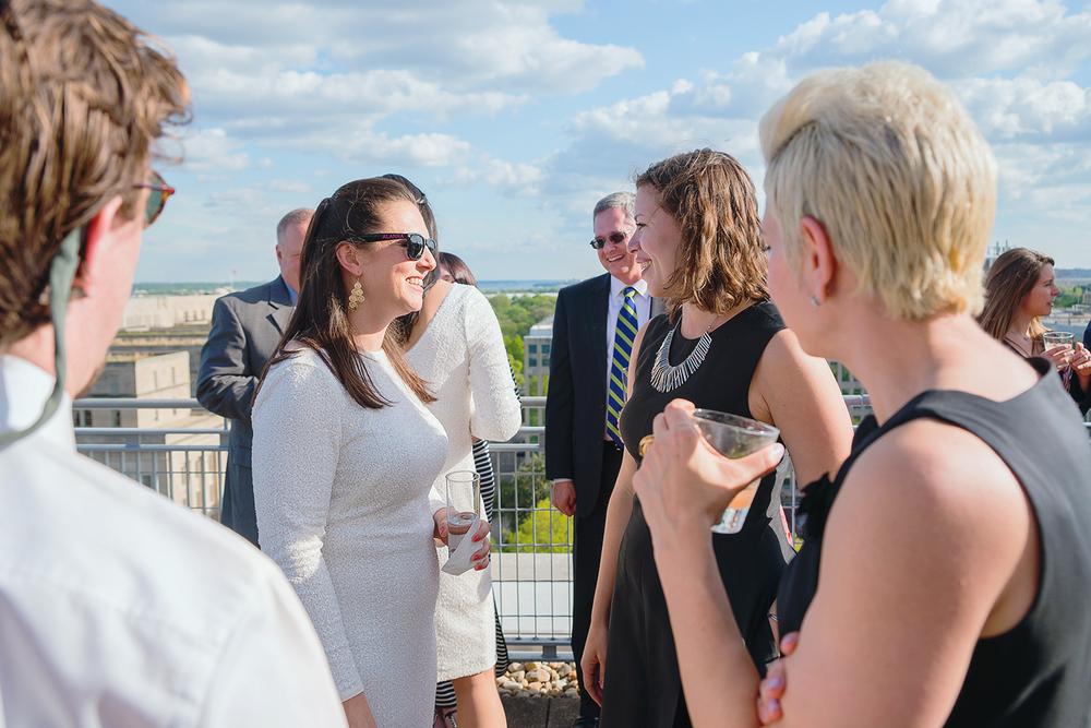 Wedding reception at George Washington University City View Room