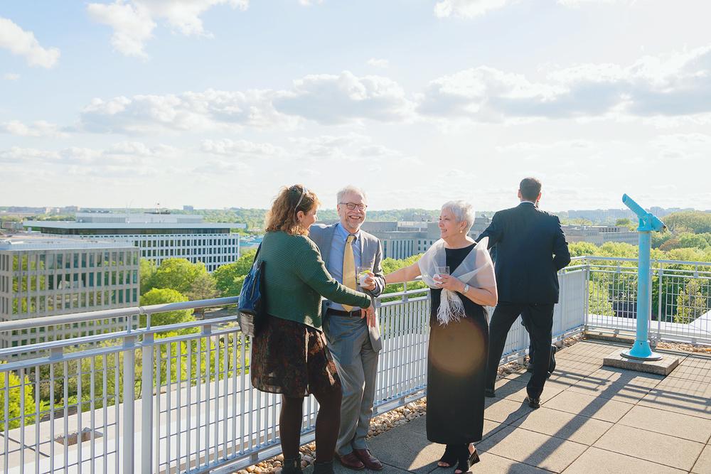 Wedding venues with views of washington dc GWU City View Room
