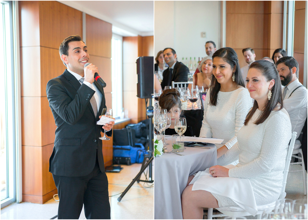 Toasts at GWU City View Room wedding reception