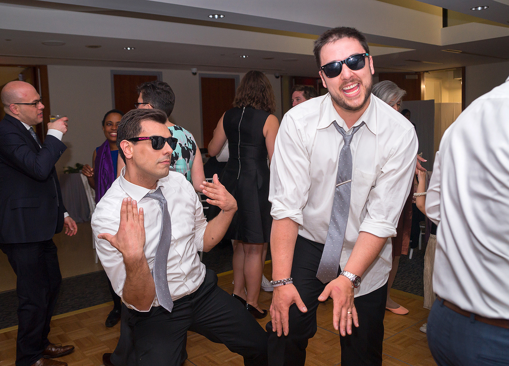 Guests dancing during DC wedding reception at GWU