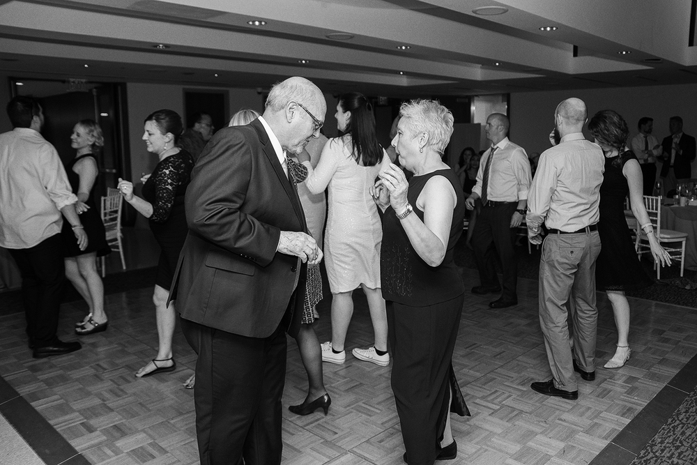 bride's parents on the dance floor at GWU city view room