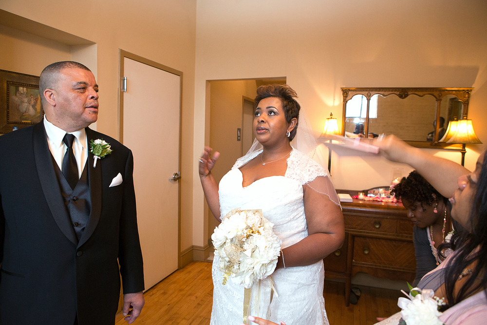 Bride getting emotional with her dad at Schindel Rohrer Ballroom in Maryland