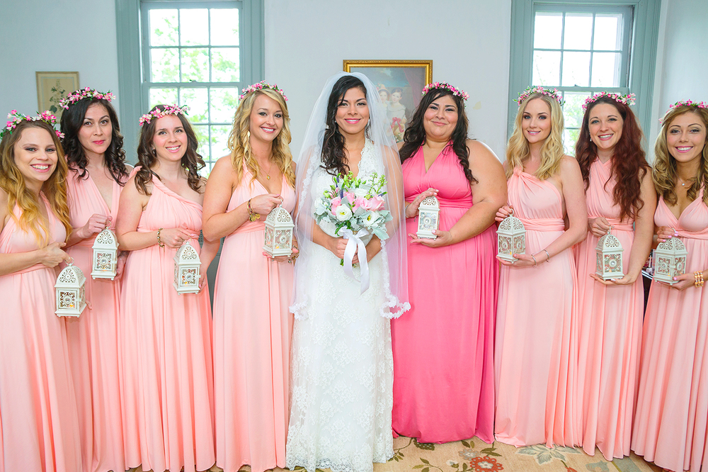 Convertible bridesmaid dress wedding photographer in maryland and virginia