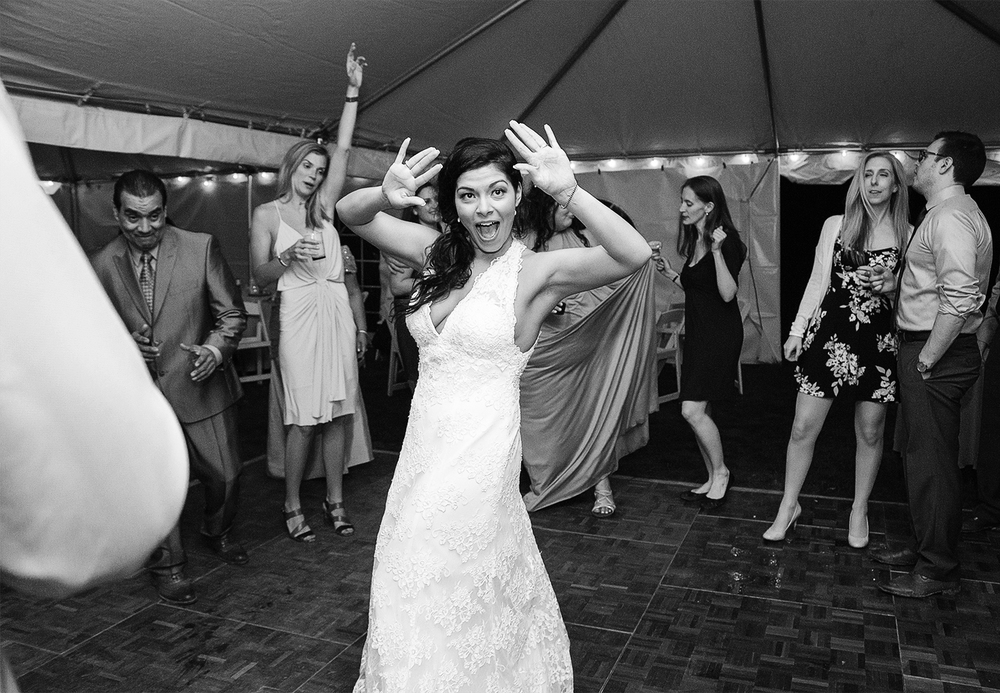 Awesome bride photo on the dance floor at Rosedale Manor at Greenwell State Park