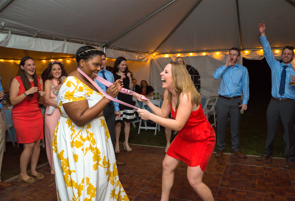 Rosedale Manor tent wedding reception photography