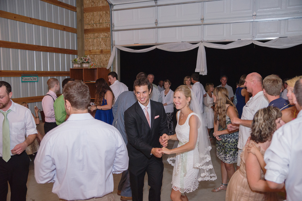 First dance at barn DIY wedding in Athol Idaho