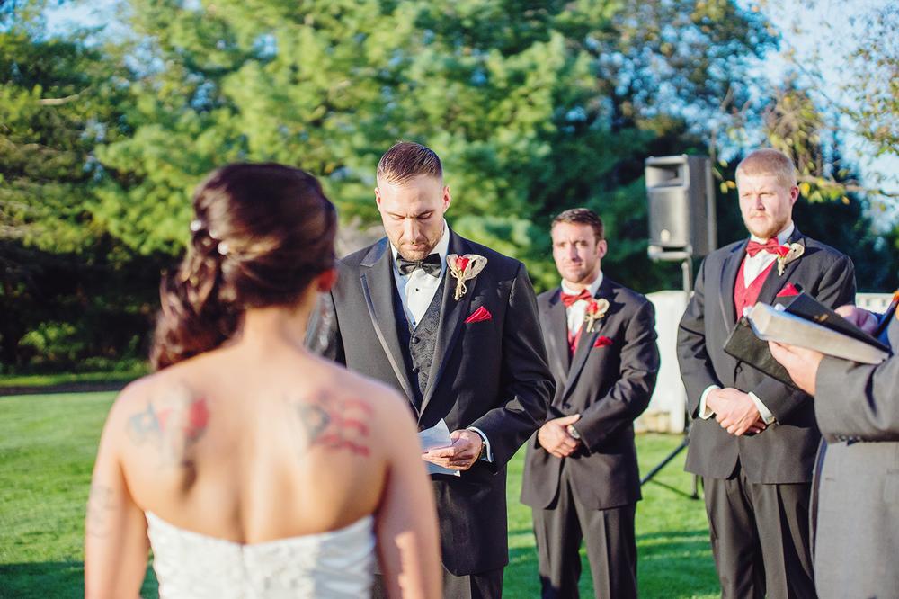 Bristol Manor outdoor wedding ceremony
