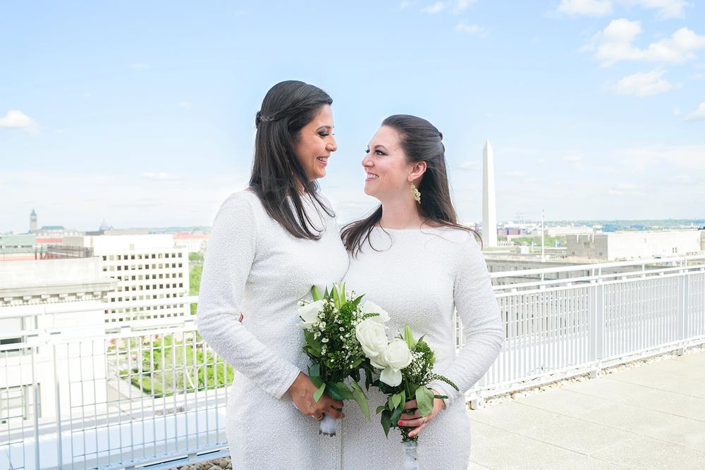 GWU City View Room rooftop Washington DC wedding photos