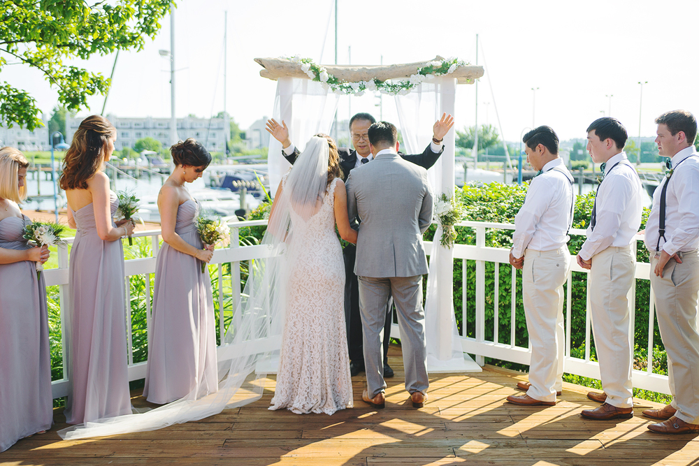 annapolis wedding ceremony on the bay