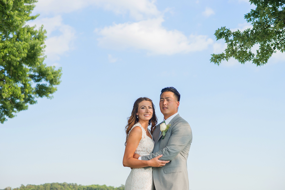 annapolis waterfront bride and groom portraits summer wedding