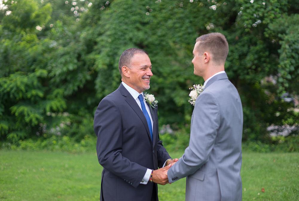 Silver Spring Maryland backyard gay wedding
