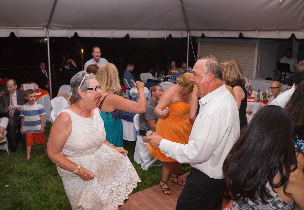 Silver Spring Maryland backyard wedding reception