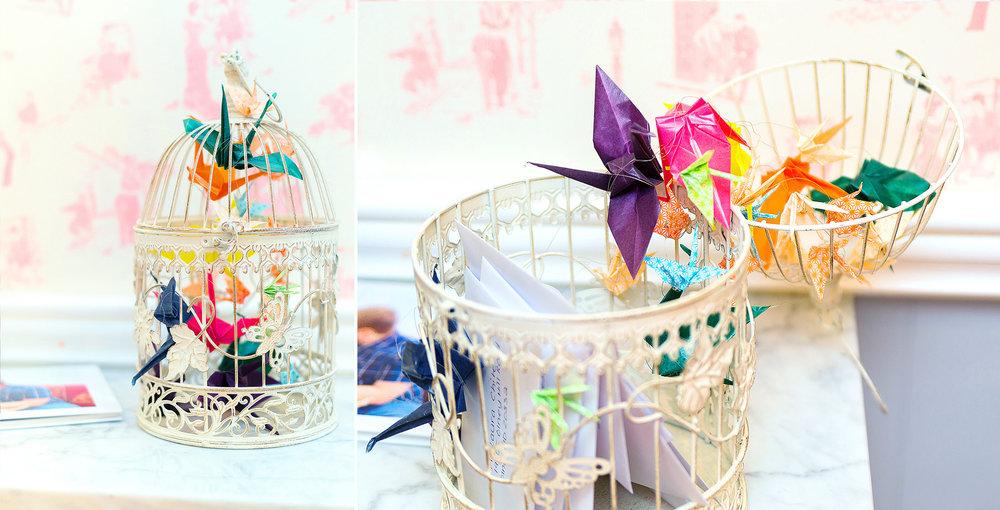 Bridal shower DIY ideas for card bird cage