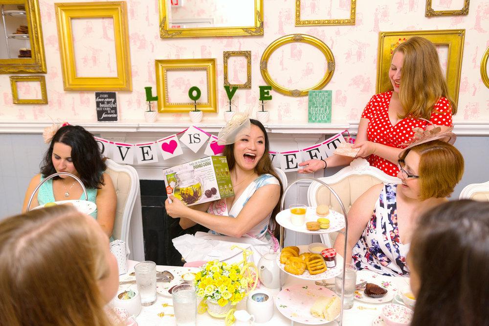 Bridal shower at DC tea house Lady Camellia