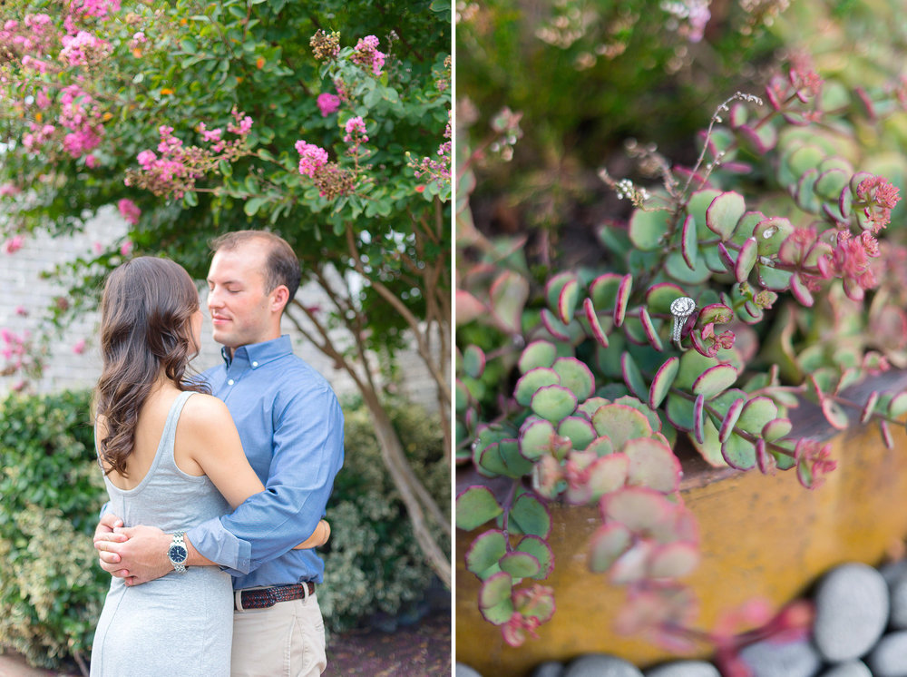 Engagement session in baltimore with succulent and cactus