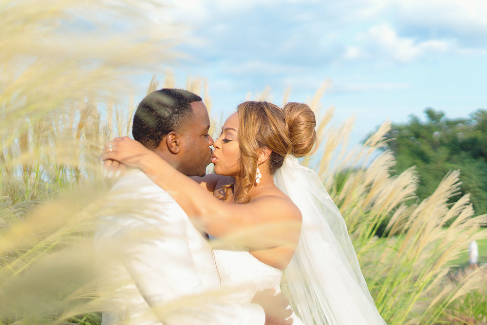 Bride and groom cover of essence leesburg resort