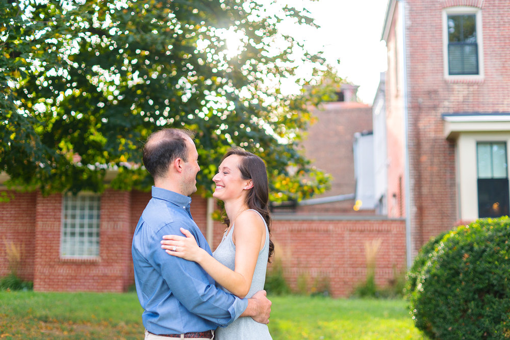 Baltimore Federal Hill engagement session in summer