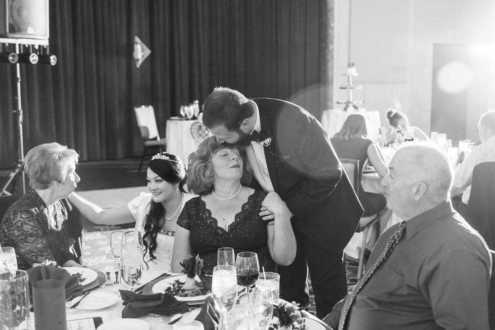 Wedding reception at The Bolger Center Potomac Maryland wedding venue