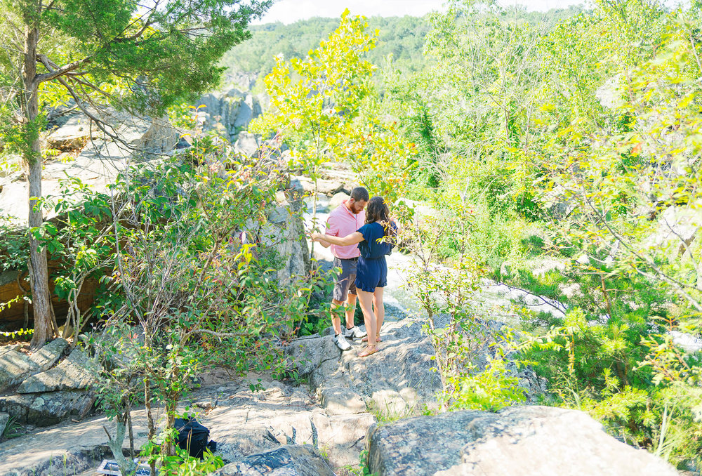 Engagement photos from Great Falls Park in Maryland