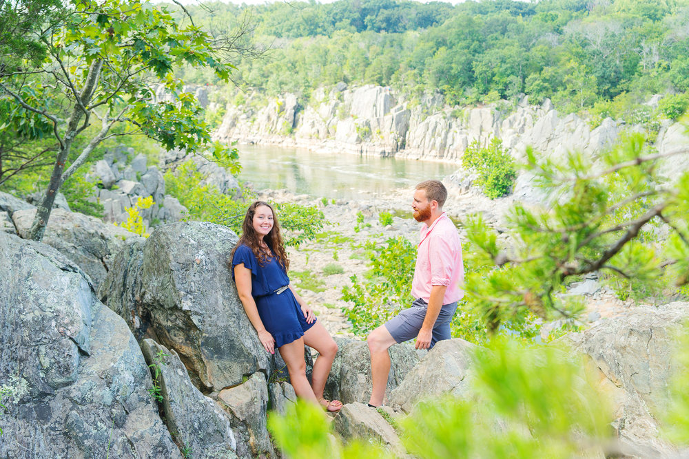 Great Falls park engagement session in maryland and virginia