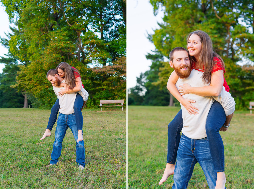Engagement session ideas in maryland at seneca creek state park by jessica nazarova