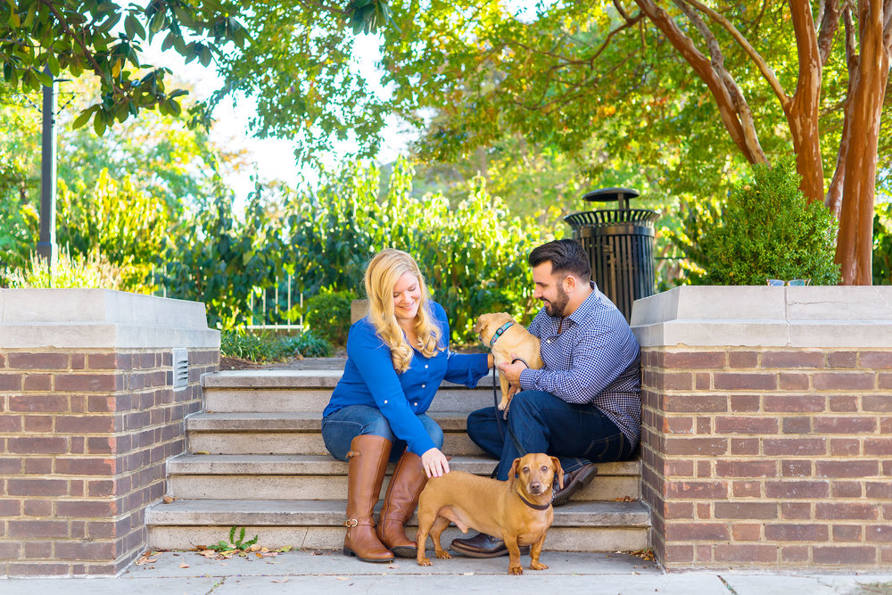 Autumn old town alexandria engagement session