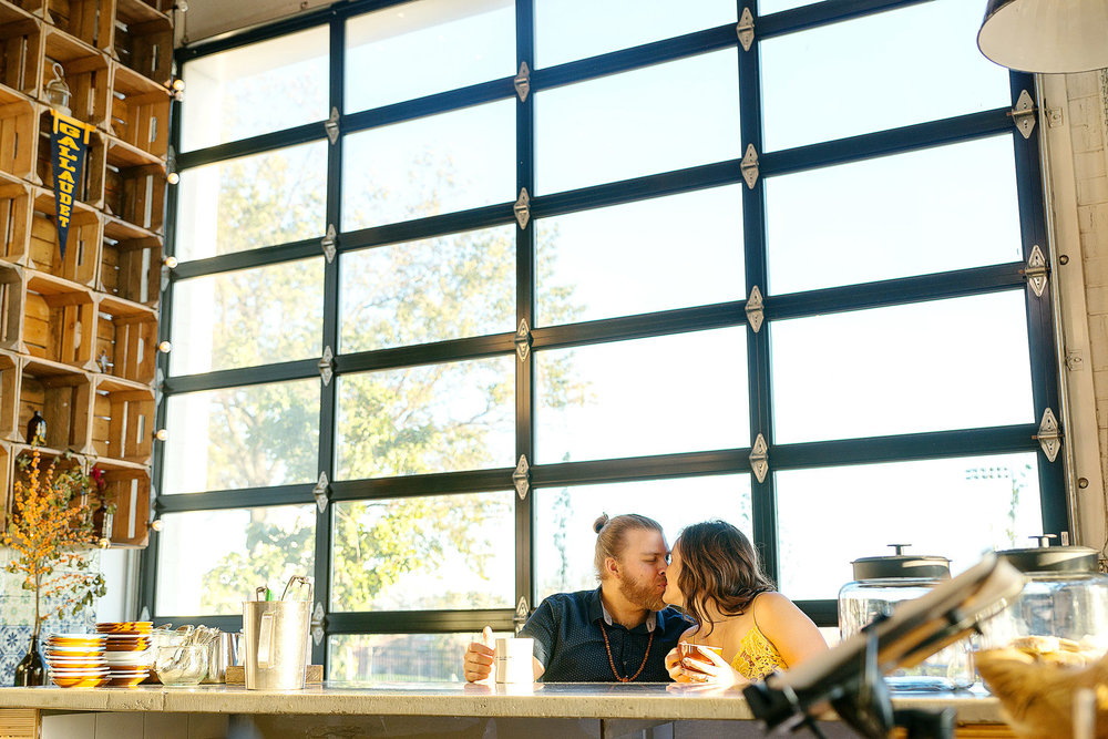 Union Market coffee shop engagement photos by Jessica Nazarova