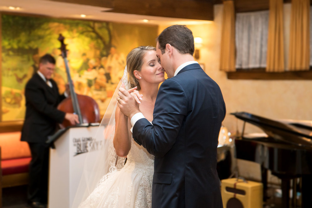 First dance at wedding reception at La Ferme in Bethesda Maryland