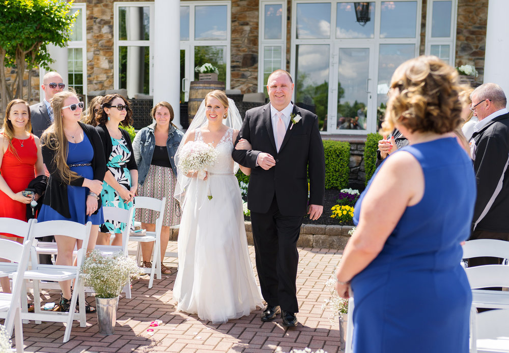 Wedding ceremony at Piedmont Club Golf Course in Virginia
