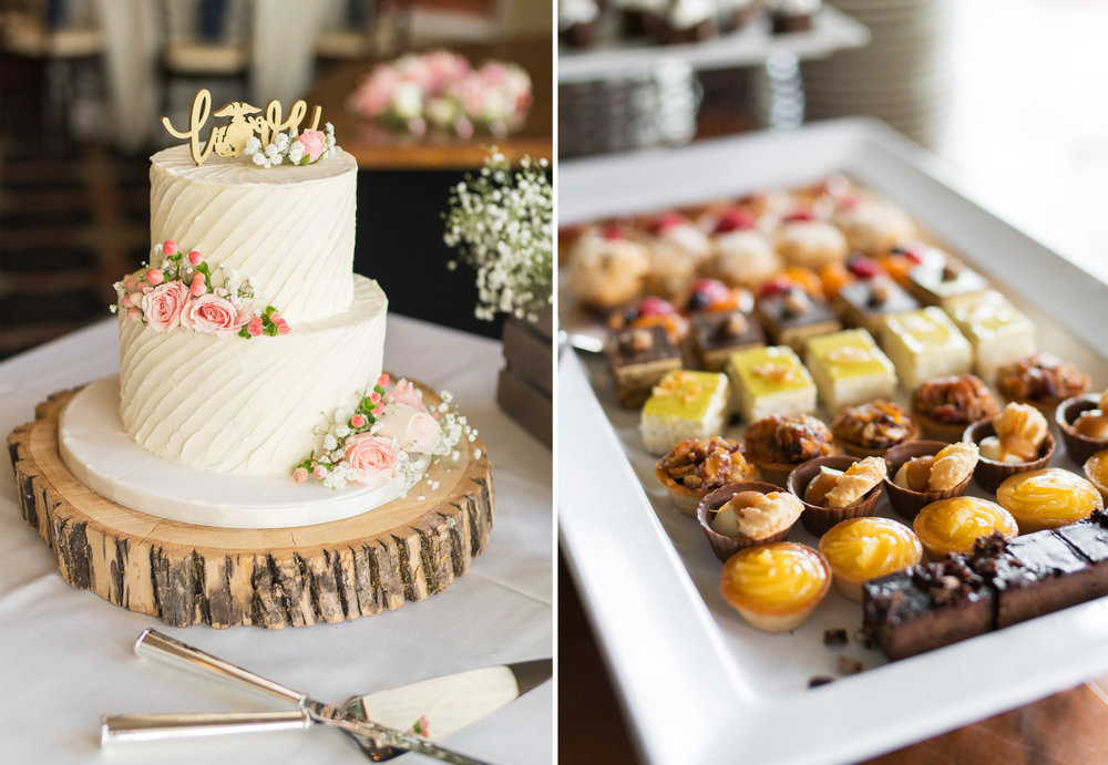 Gorgeous wedding cake and desserts by bakery Gateau in Virginia