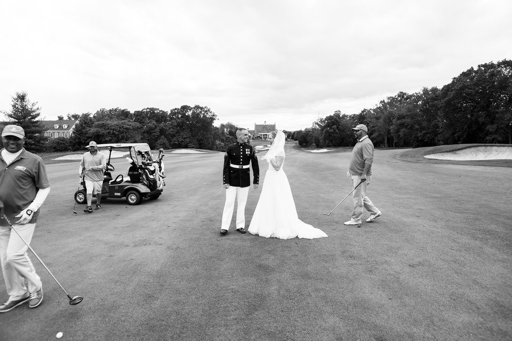 18th hole golf course wedding at Piedmont in Virginia