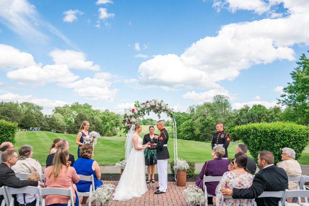 Beautiful wedding photography in virginia at piedmont golf course
