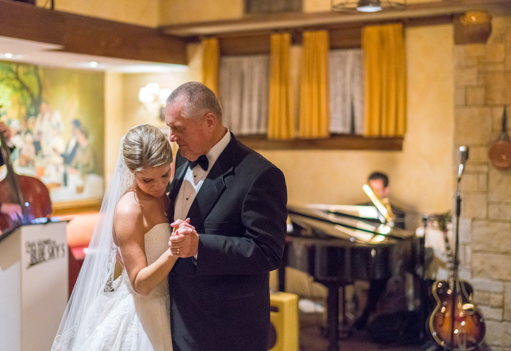 Father Daughter dance on dance floor at La Ferme in Bethesda