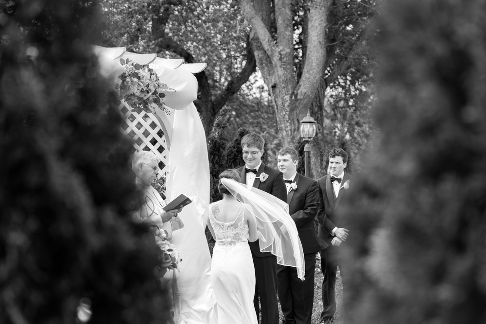 Black and white bride and groom photo at Antrim 1844 in maryland
