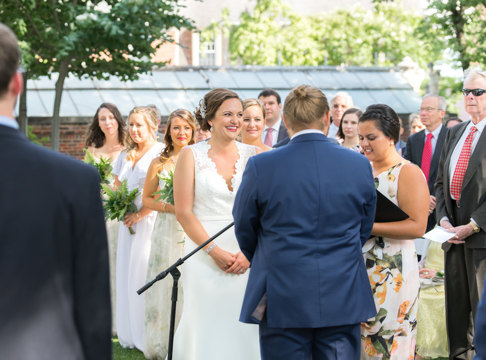 outdoor garden round ceremony photos at meridian house