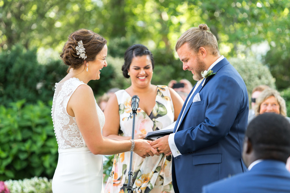 Meridian House wedding ceremony