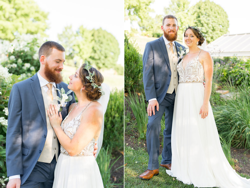 Gorgeous bride and groom photos at Glen Ellen Farm in July